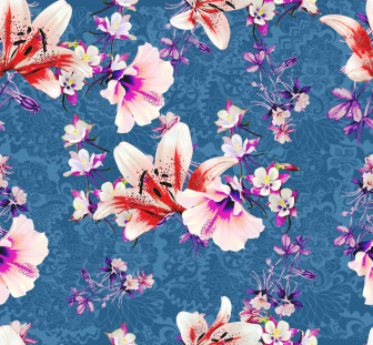 Hibiscus Abstract Floral