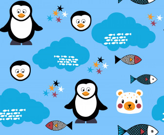 Penguin with friends